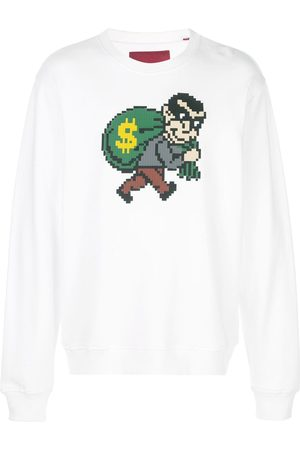 MOSTLY HEARD RARELY SEEN Robber sweatshirt med tryck