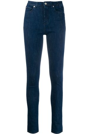 Paul Smith Skinny-jeans med hög midja