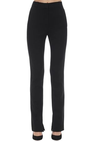 Victoria Beckham Skinny Side Split Textured Cady Pants