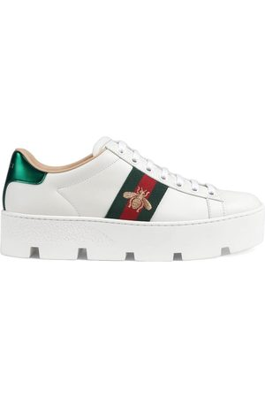 Gucci Ace broderade platåsneakers