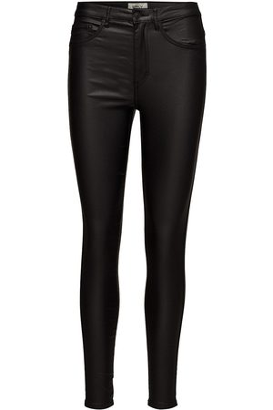 Only Onlroyal Hw Sk Rock Coated Pim Noos Leather Leggings/Byxor Svart
