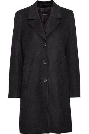Selected Slfsasja Wool Coat Noos B Yllerock Rock