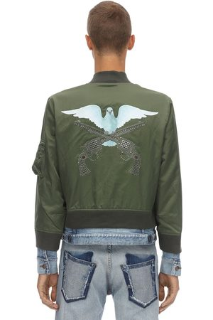 3.Paradis Man Jeansjackor - Dove Printed Bomber Jacket W/ Denim