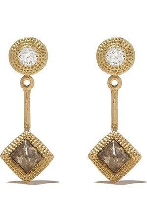 De Beers Talisman diamantörhängen i 18K gult guld
