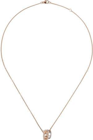 De Beers Dewdrop diamanthalsband i 18K roséguld