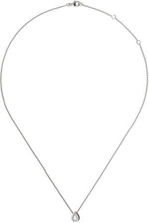 De Beers My First Aura halsband i 18K vitguld med päronformad diamant