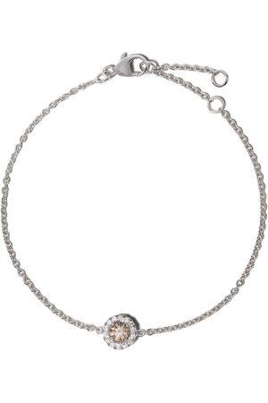 De Beers Aura diamantarmband i 18K vitguld