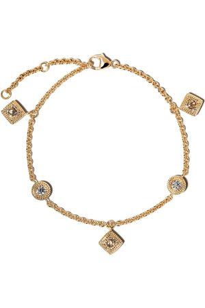 De Beers Talisman armband med diamanthänge i 18K gult guld