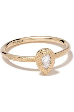 De Beers Kvinna Ringar - Talisman ring i 18K gult guld med päronformad diamant