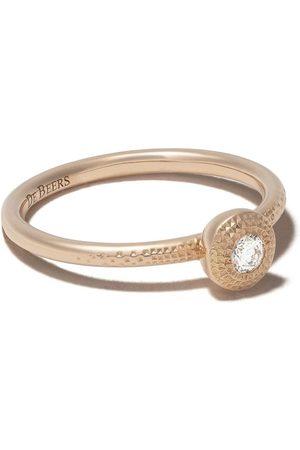 De Beers Talisman rund diamantring i 18K roséguld