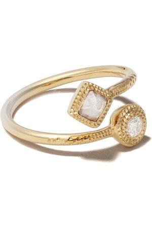 De Beers Talisman diamantring i 18K gult guld