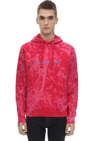 DARKOVELI Red Tie Dye Jersey Sweatshirt Hoodie