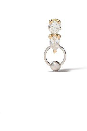 DELFINA DELETTREZ Two in One diamantörhänge i 18K vitt och gult guld