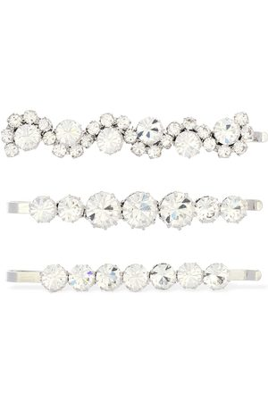 Alessandra Rich Set Of 3 Crystal Hairpins