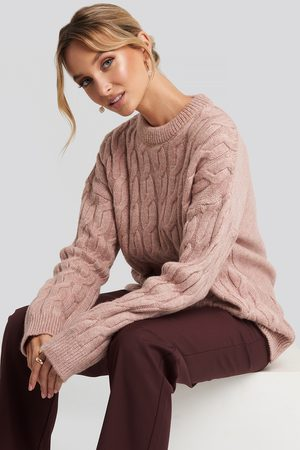 NA-KD Cable Knitted Oversized Sweater