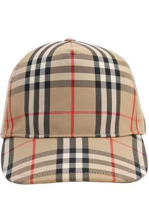 Burberry Vintage Check Print Canvas Baseball Hat