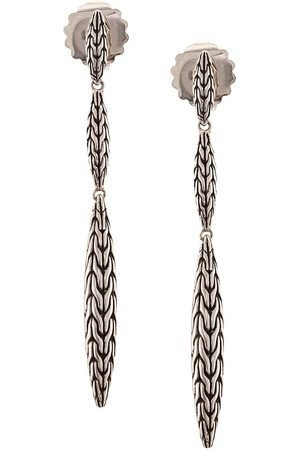 John Hardy Sterling Classic Chain Spear Linear earrings