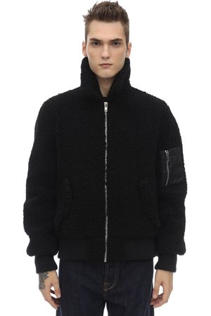 STAND Zip-up Faux Fur Bomber Jacket