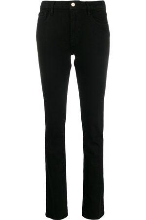 Frame Sylvie Slender raka jeans med hög midja