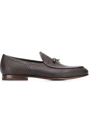 Scarosso Henri Brown woven loafers