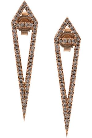 Eva Fehren 18kt rose gold diamond dagger studs