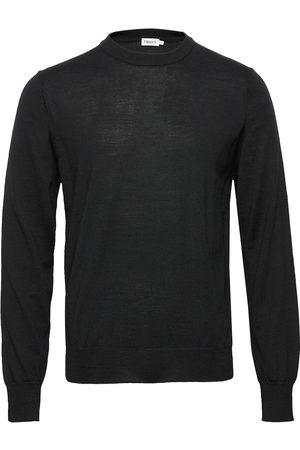 Filippa K Man Stickade tröjor - M. Merino Sweater Stickad Tröja M. Rund Krage Grå