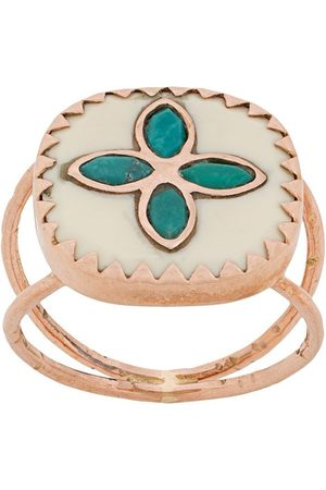 Pascale Monvoisin BOWIE N°2 WHITE TURQUOISE ring i 9K rosé