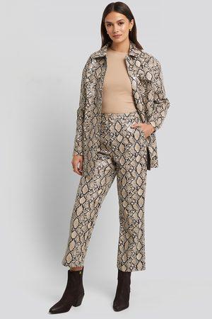 NA-KD Snake Printed Cropped Pants