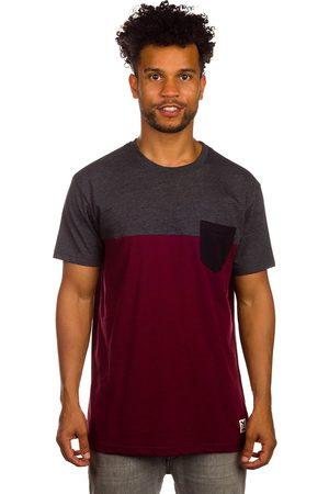 Iriedaily Block Pocket T-Shirt anthra red