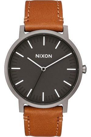 Nixon The Porter Leather gunmetal/charcoal/taupe
