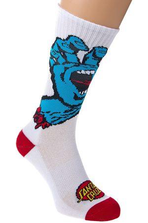 Santa Cruz Man Strumpor - Screaming Hand Socks white