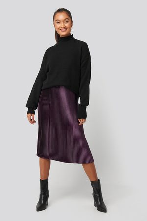NA-KD Shiny Pleated Skirt - Midikjolar - Lila - EU 34