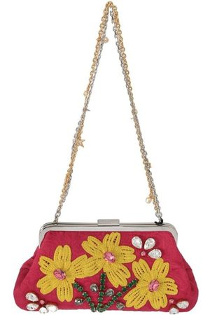 Dolce & Gabbana Floral Crystal Applique Evening Purse