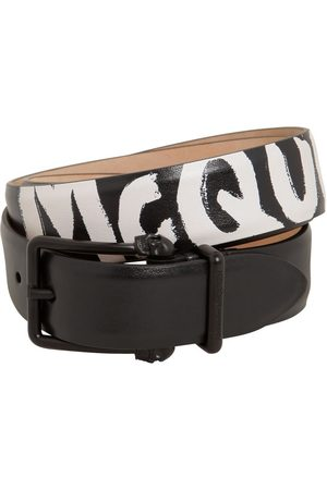 Alexander McQueen Man Bälten - 4cm Reversibile Logo Leather Belt