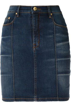 AMAPÔ Kvinna Jeanskjolar - Cris jeanskjol med hög midja