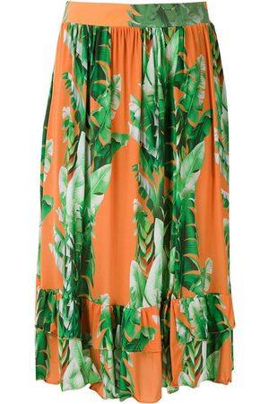 AMIR SLAMA Mönstrad kjol med volanger