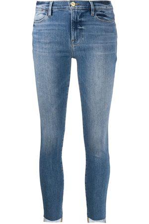 Frame Skinny-jeans med hög midja
