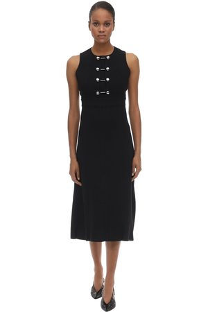 Proenza Schouler Double Weave Viscose Crepe Midi Dress