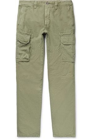 Incotex Man Cargobyxor - Slim-fit Cotton And Linen-blend Cargo Trousers