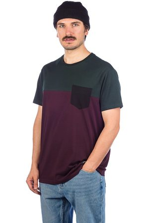 Iriedaily Block Pocket T-Shirt aubergine