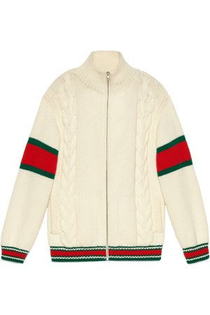Gucci Man Bomberjackor - Cable knit bomber jacket
