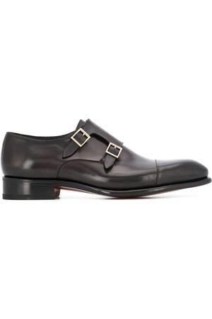 santoni Spetsiga loafers med dubbla spännen