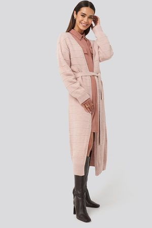 NA-KD Belted Long Cardigan