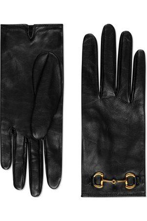 Gucci Kvinna Handskar - Leather gloves with Horsebit