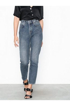 Selected Femme Slffrida Hw Mom Mid Blue Jeans W No Straight