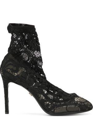 Dolce & Gabbana Kvinna Stövlar - Spetsstövlar i stretch