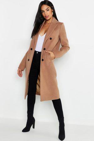 Boohoo Tall Double Breasted Coat