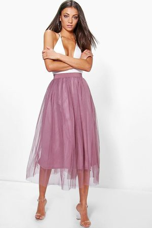 Boohoo Tall - Boutique Knälång Tyllkjol, Purple