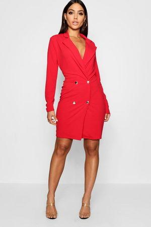 Boohoo Blazer Dress, Red