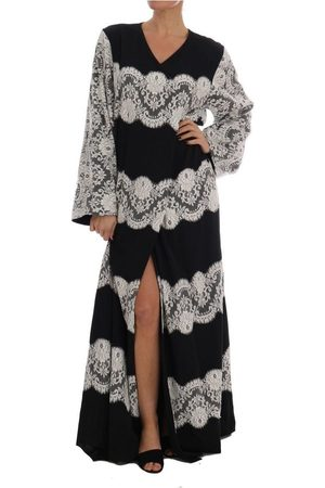 Dolce & Gabbana Silk Floral Lace Kaftan Dress